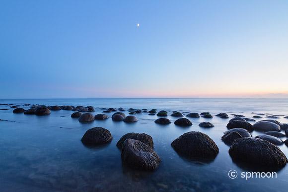 Bowling Ball Beach in Twilight, CA