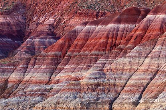 Colorful Mountains in Paria River Valley at Sunset, Grand Staircase-Escalante National Monument, Utah