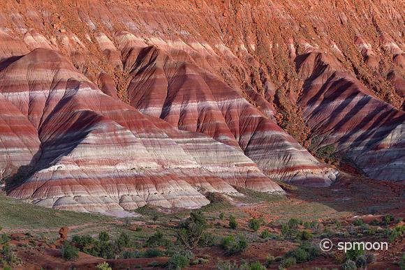 Colorful Mountains in Paria River Valley in Sunset, Grand Staircase-Escalante National Monument, Utah