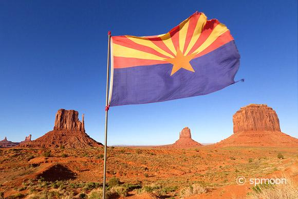 Arizona Flag in Monument Valley