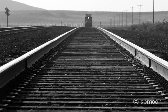 Railroad track near Amboy, CA