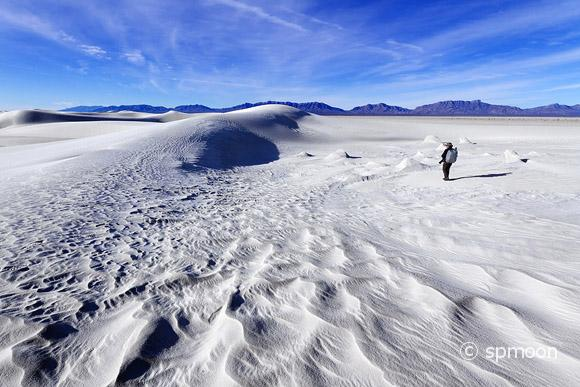 Photographer at White Sands National Monument