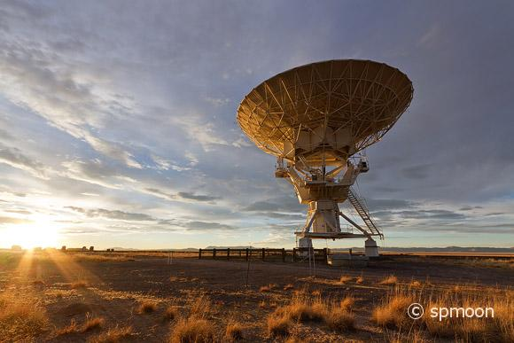 Very Large Array at Sunset, New Mexico