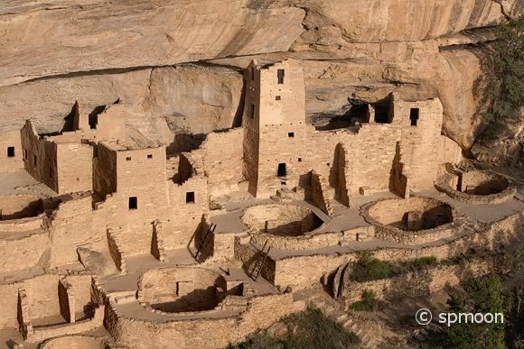 Cliff Place close-up view, Mesa Verde National Park, Colorado