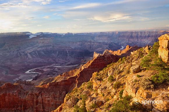 Lipan Point at Sunset, Grand Canyon National Park, AZ.