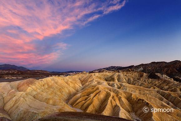 Zabriskie Point at Twilight, Death Valley National Park, CA.