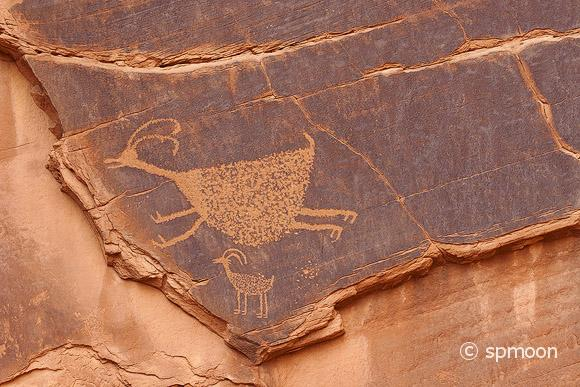 Petroglyphs in Monument Valley