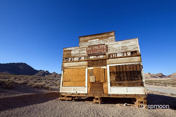 Old Mercantile at Rhyolite Ghost Town, Nevada.