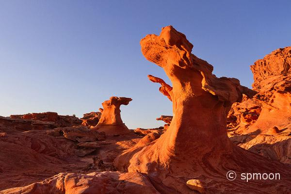 Bizarre red rock formation, Little Finland near Mesquite, Nevada