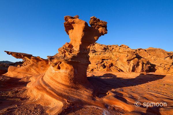 Bizarre red rock formation, Little Finland near Mesquite, Nevada