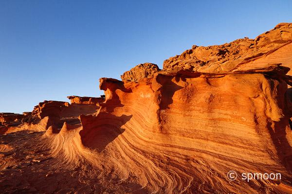 Wavy rock formation, Little Finland, Nevada