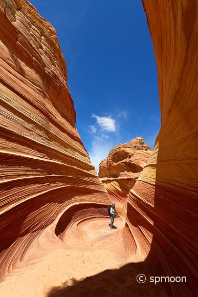 Hiker in the Coyote Butte North