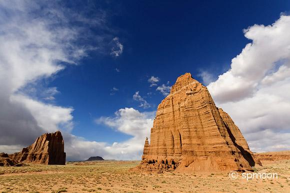 Temple of the Sun and Moon, Cathedral Valley, Capitol Reef National Park, UT.
