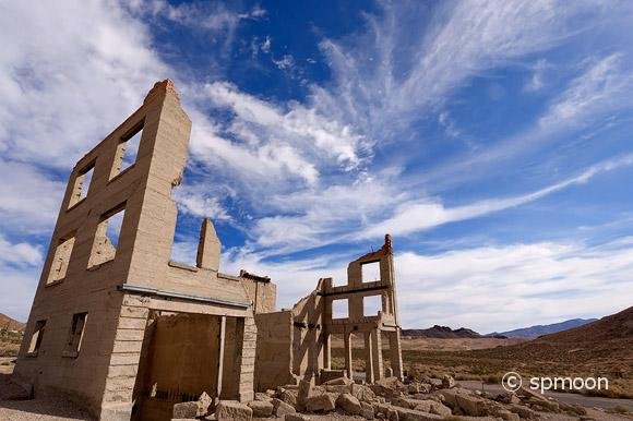 Cook bank building, Rhyolite Ghost Town, Nevada