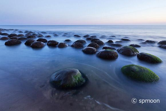 Bowling Ball Beach in Twilight near Point Arena, CA