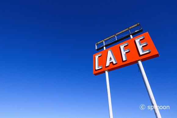 Cafe Sign on Route 66