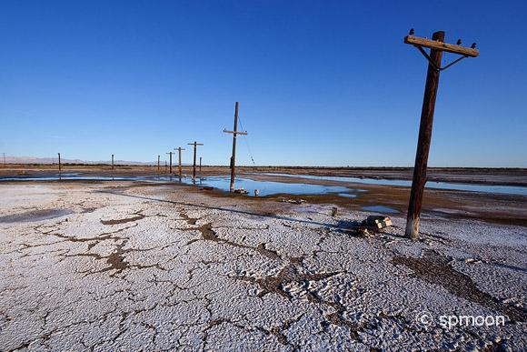 Old Power Poles, Salton Sea