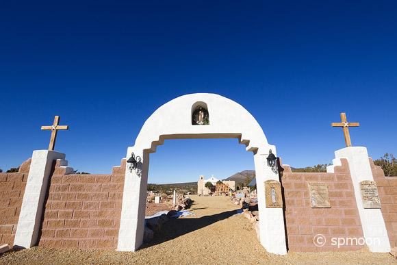 Entrance Gate of San Francisco de Asis Church in Golden, New Mexico