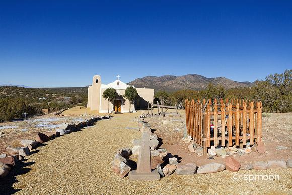 San Francisco de Asis Church in Golden, New Mexico