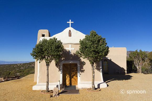 San Francisco de Asis Church in Golden along the Turquois Trail, New Mexico