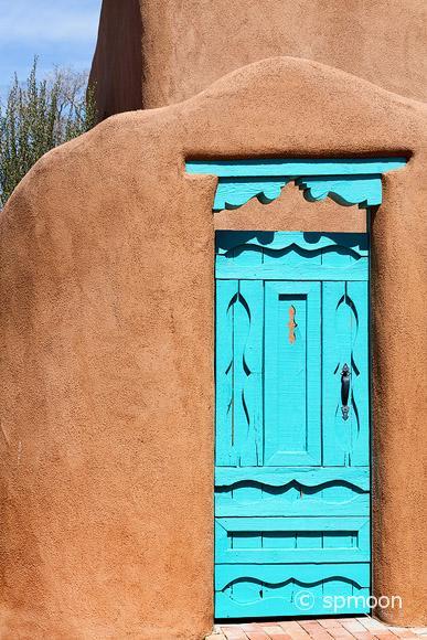Southwestern Blue Door