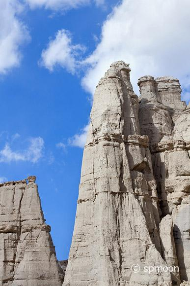 White sandstone rock formation known as the Plaza Blanca, Abiquiu, NM