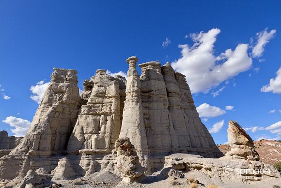 White sandstone rock formation known as the Plaza Blanca, Abiquiu, NM.