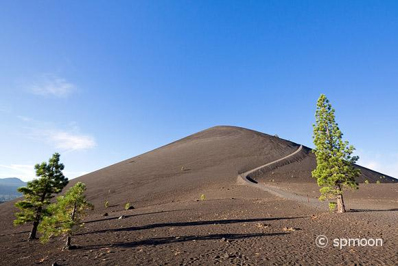 Hiking trail in the bottom of Cinder Cone, Lassen Volcanic National Park, CA