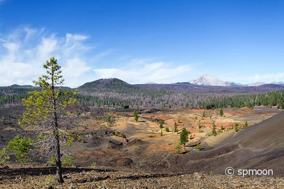 Painted Dunes at the Cinder Cone trail, Lassen Volcanic National Park, CA.