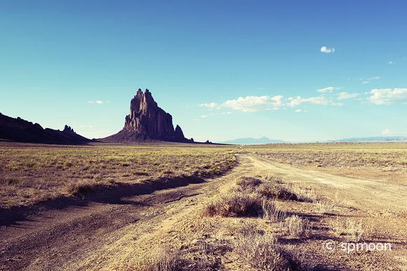 Shiprock, New Mexico with Vintage Effect