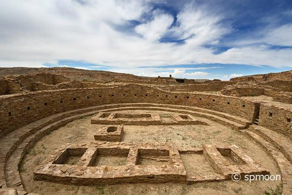 Great Kiva at Pueblo Bonito Ruin, Chaco Culture National Historic Park, New Mexico