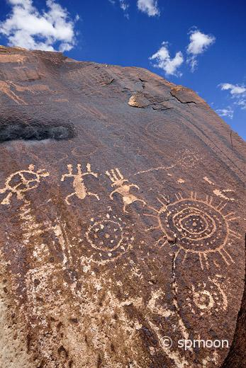 Ancient Native American Petroglyphs, Little Black Mountain Petroglyph Site near St. George, UT