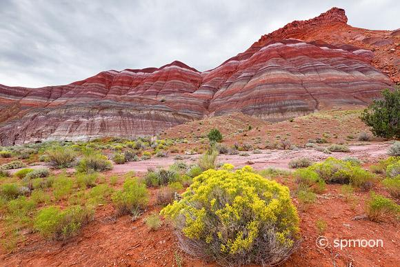 Colorful mountains at Paria townsite in Grand Staircase Escalante National Monument, UT.