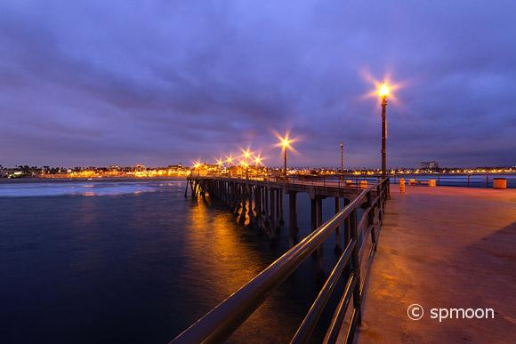Huntington Beach Pier at Night, CA