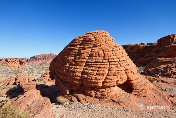 Beehive shaped rock formation, Valley of Fire State Park, Nevada.