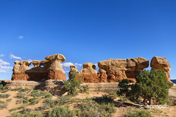 Sandstone rock formation at Devil's Garden, Grand Staircase-Escalante National Monument, UT.