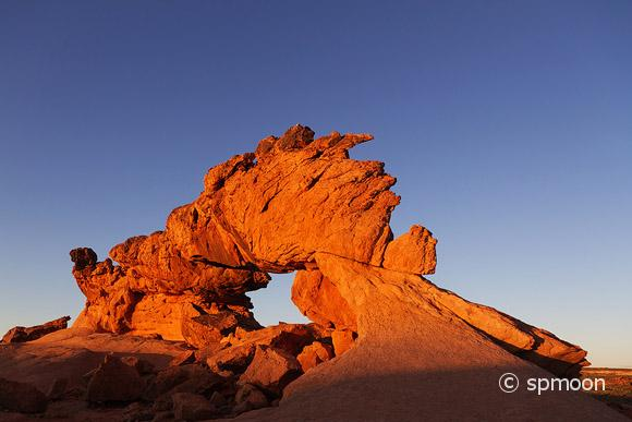 Last light of the day on Sunset Arch, Grand Staircase-Escalante National Monument, UT