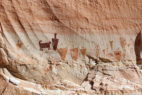 Ancient pictographs at Horseshoe Canyon, Canyonlands National Park, UT