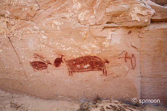 Pictographs at Horseshe Canyon, Canyonlands National Park, UT.