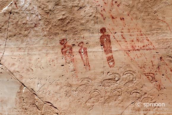 Pictographs at Horseshoe Canyon, Canyonlands National Park, UT