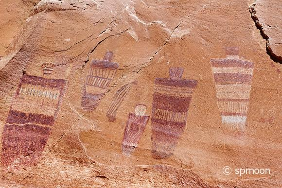 Pictographs at Horseshoe Canyon, Canyonlands National Park, UT