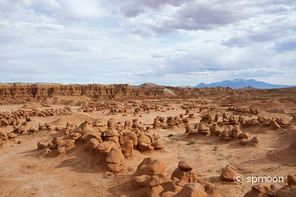 Panoramic view of Goblin Valley State Park, UT.