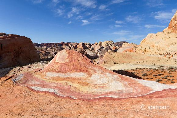 Crazy Hill - crazy colored rock formation, Valley of Fire State Park, NV.