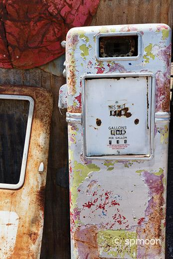 Rusty Old Gas Pump