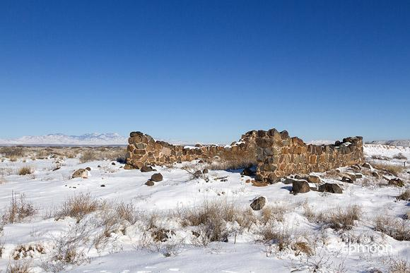 Fort Craig Guard House Ruin in Winter, New Mexico