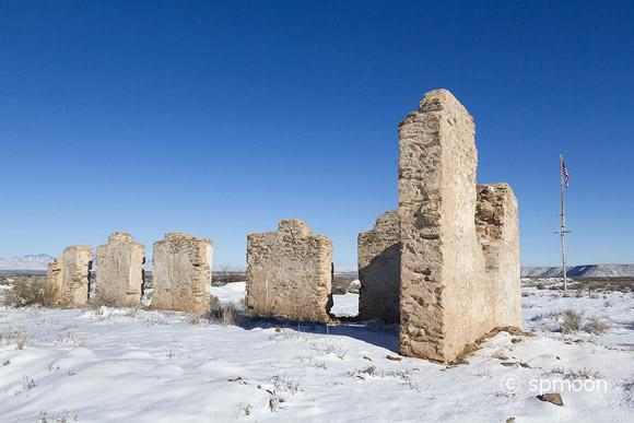 Fort Craig Commanding Officers Quarters Ruin in Winter, New Mexico