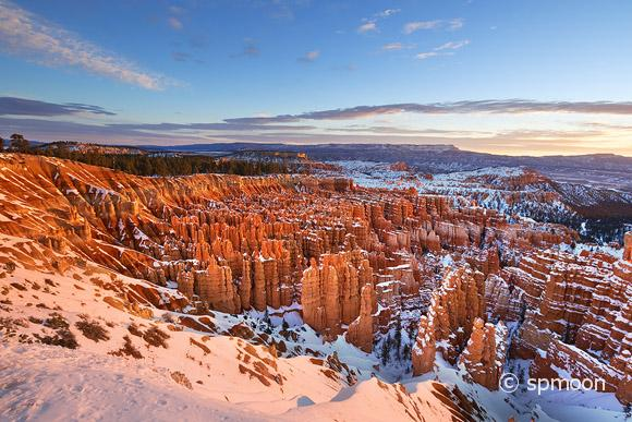 Winter Sunrise at Inspiration Point, Bryce Canyon National Park, UT