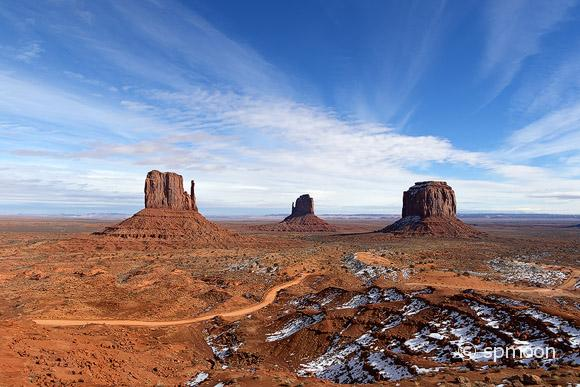Monument Valley in winter