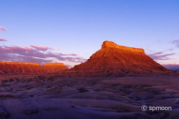 Factory butte at surise, Caineville, UT