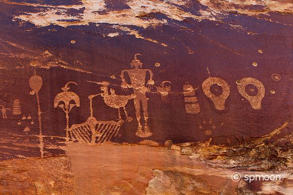 Ancient Native American Petroglyph in Butler Wash, Comb Ridge, Utah